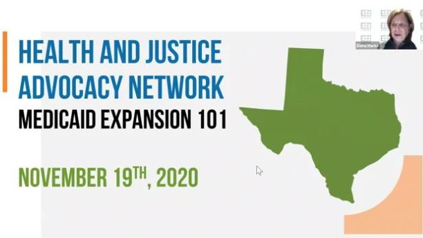Watch Now: Medicaid Expansion 101 with the Health and Justice Advocacy Network