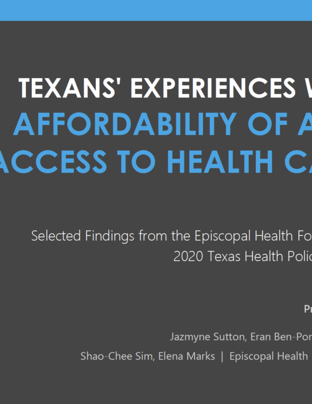 EHF Texas Health Poll: Texans say health care is the toughest living expense for them to afford